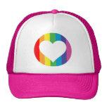 rainbow love. trucker hat