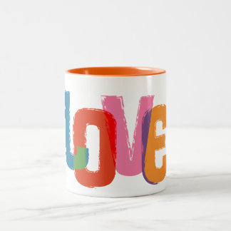 Rainbow Love Two-Tone Coffee Mug