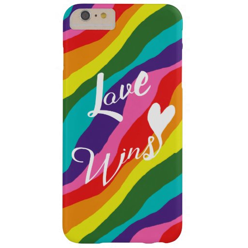 Rainbow Love Wins Barely There iPhone 6 Plus Case