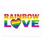 RAINBOW-LOVE.With-Hearteps Postal