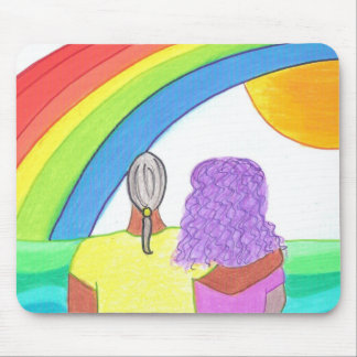 Rainbow Lovers Mouse Pad