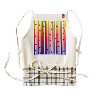 Rainbow Loves Hearts Design Zazzle HEART Apron