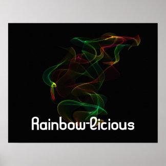 Rainbow-Luscious Posters