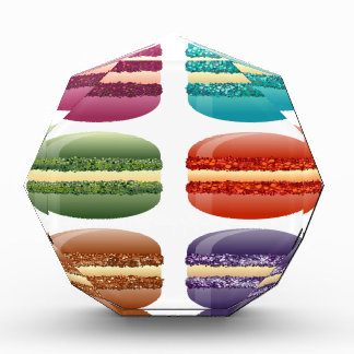 rainbow macarons acrylic award
