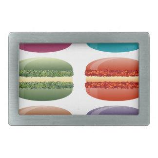 rainbow macarons belt buckle
