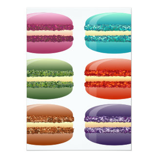 rainbow macarons card