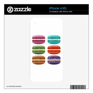 rainbow macarons decals for the iPhone 4S