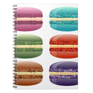 rainbow macarons notebook