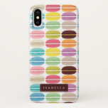 "Rainbow Macarons Personalized iPhone X Case<br><div class=""desc"">Fun and colorful macaron cookies pattern design can be personalized with your name,  monogram,  or any text of your choice for a sweet custom gift.</div>"