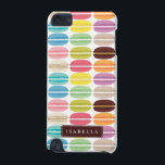 "Rainbow Macarons Personalized iPod Touch (5th Generation) Cover<br><div class=""desc"">Fun and colorful macaron cookies pattern design can be personalized with your name,  monogram,  or any text of your choice for a sweet custom gift.</div>"