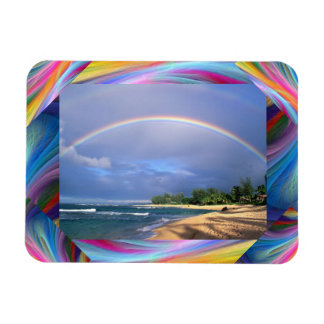 rainbow magnet with colorful boarder frame