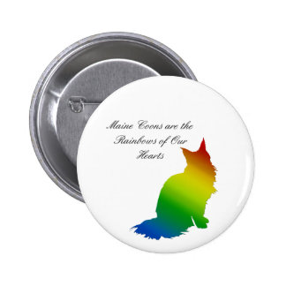 Rainbow Maine Coon 2 Inch Round Button