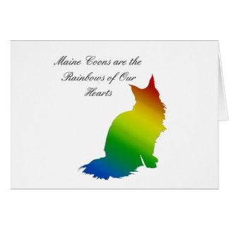 Rainbow Maine Coon Card