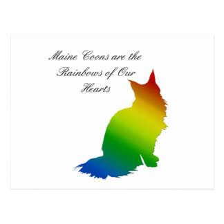 Rainbow Maine Coon Postcard