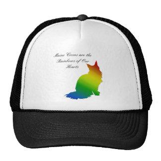 Rainbow Maine Coon Trucker Hat