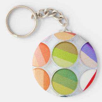 Rainbow Makeup Palette - Beauty Print Keychain