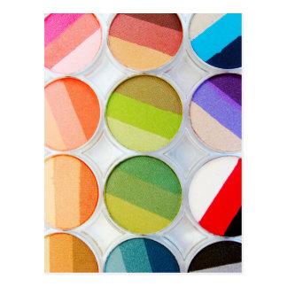 Rainbow Makeup Palette - Beauty Print Postcard