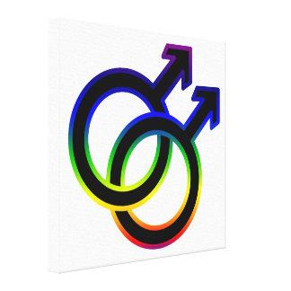 Rainbow Male Homosexual Symbol Gallery Wrap Canvas