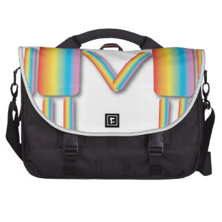 Rainbow Man Couple Laptop Messenger Bag
