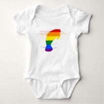 Rainbow Manatee Baby Bodysuit