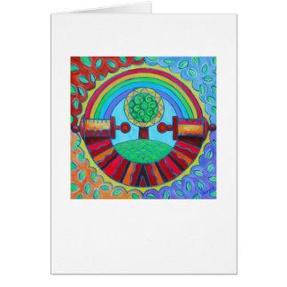 Rainbow Mandala Card