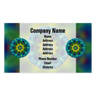 Rainbow Mandala Fractal Art Business Card