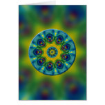 Rainbow Mandala Fractal Art Cards
