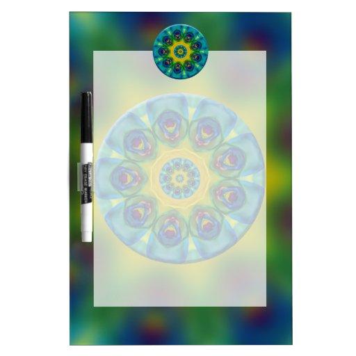Rainbow Mandala Fractal Art Dry-Erase Whiteboards