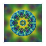 Rainbow Mandala Fractal Art Gallery Wrapped Canvas