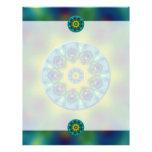 Rainbow Mandala Fractal Art Letterhead Template