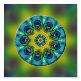 Rainbow Mandala Fractal Art Art Photo