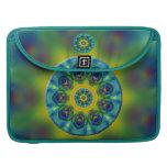 Rainbow Mandala Fractal Art Sleeve For MacBooks