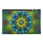Rainbow Mandala Fractal Art Travel Accessory Bag