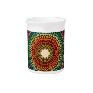 Rainbow Mandala - hand painted Beverage Pitchers