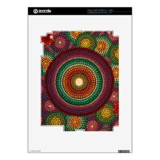 Rainbow Mandala - hand painted iPad 2 Decals