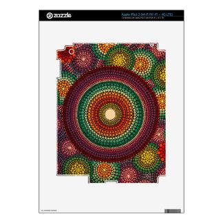 Rainbow Mandala - hand painted iPad 3 Decal