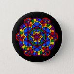 Rainbow Mandala LGBT Pride Flag Colors Button