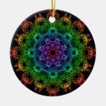 Rainbow Mandala Ornament