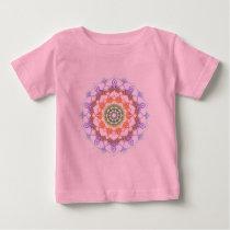 Rainbow Mandala Pattern Baby T-Shirt