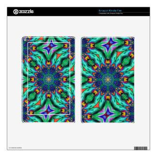 Rainbow Mandala Psychedelic Kaleidoscope Kindle Fire Skin