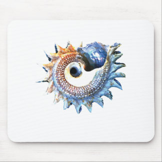 Rainbow Mandala Seashell Golden Spiral Yoga Tee Mouse Pad