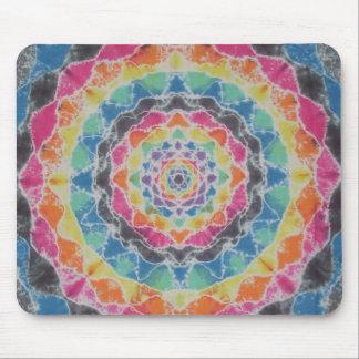 Rainbow Mandala Tie Dye PhatDyes Mouse Pad