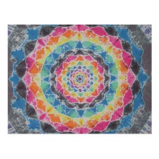 Rainbow Mandala Tie Dye PhatDyes Postcard