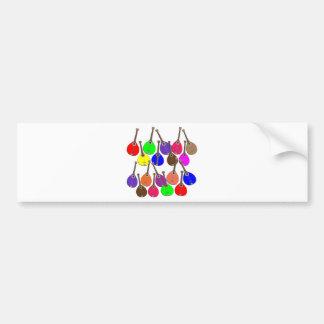 rainbow mandolin bumper sticker