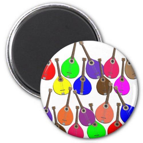 Rainbow Mandolins Round Magnet