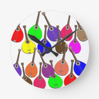 rainbow mandolin round clock