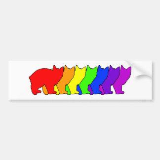 Rainbow Manx Bumper Sticker