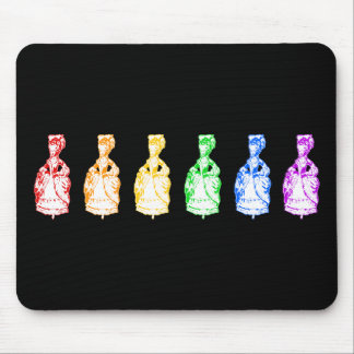 Rainbow Marie Antoinettes Mouse Pad