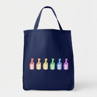 Rainbow Marie Antoinettes Tote Bag