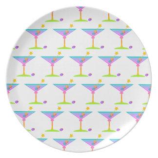 Rainbow Martini Plate